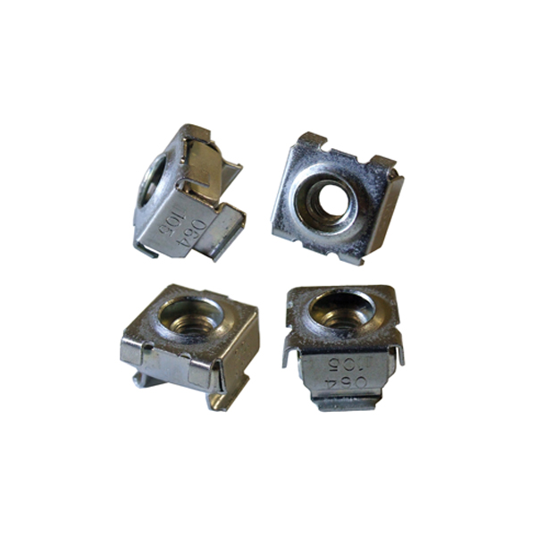 1/4-20 Nickel Square Hole Cage Nut 1421CND Series