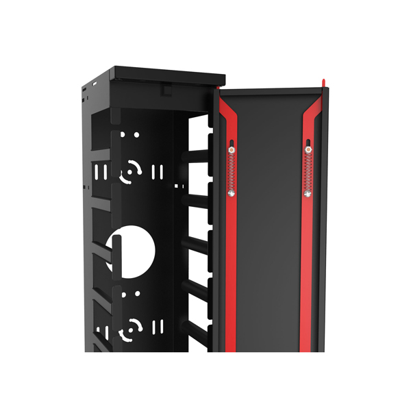 Vertical Finger Cable Manager with Door  FRCM Series