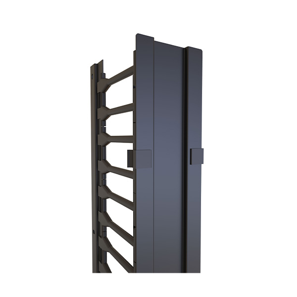 Vertical Finger Cable Manager with Door H1VFM Series For use with H1 Cabinet Series