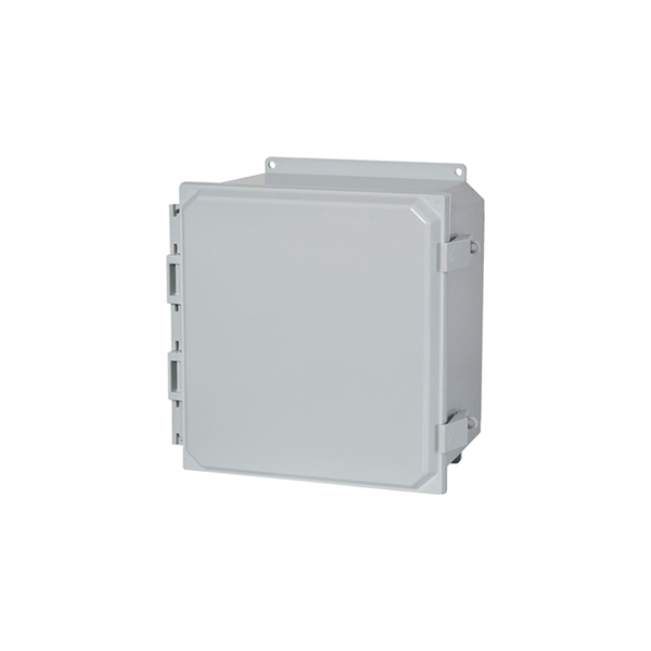 Type 4X Polycarbonate Junction Box (Solid and Clear Cover) PCJ Series Non-Metallic Latch Cover