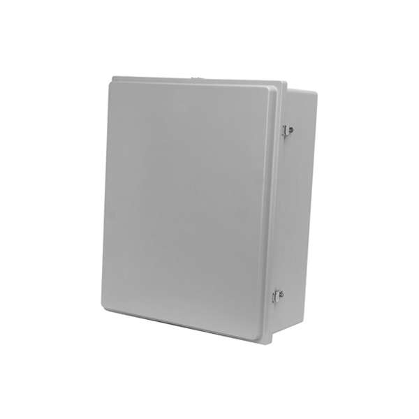 Type 4X Polyester Junction Box w/ Raised Lid (Solid and Window)  Continuous Hinge Door with Snap Latches PJ Series
