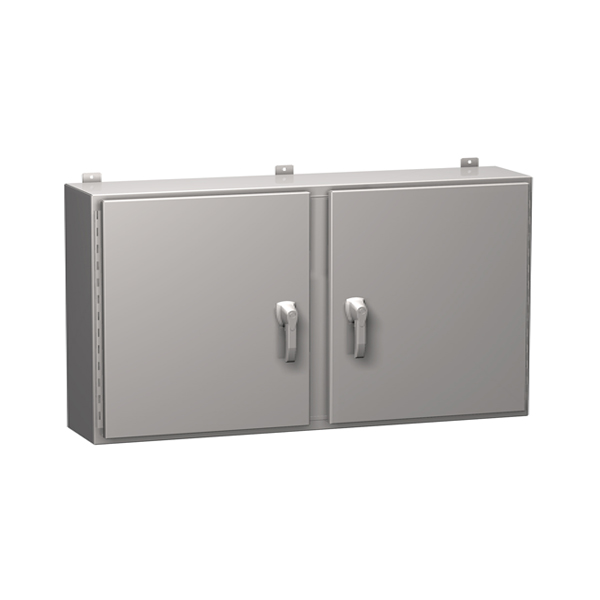 Type 4X Stainless Steel Two Door Wallmount Enclosure HN4 WM SS Series