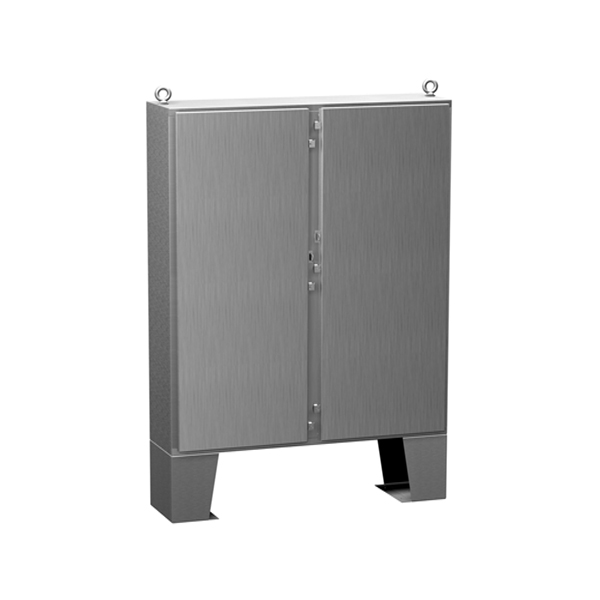 Type 4X Stainless Steel Two Door Floormount Enclosure 1422 N4 QT SS Series