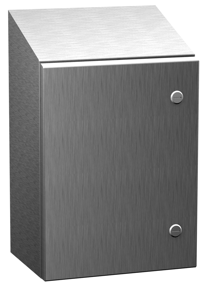 Type 4X Stainless Steel Wallmount Enclosure w/ Sloped Top ST SS Series