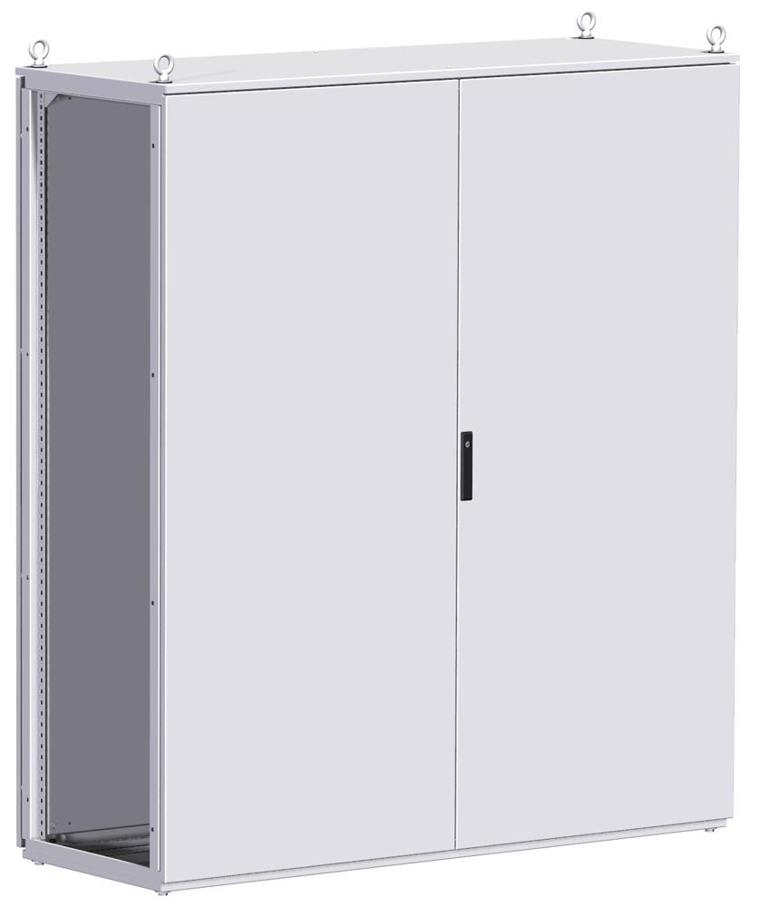 Type 12 Mild Steel Two Door Modular Freestanding Enclosure HME Series - Hinge Door w/ Various Handle Options