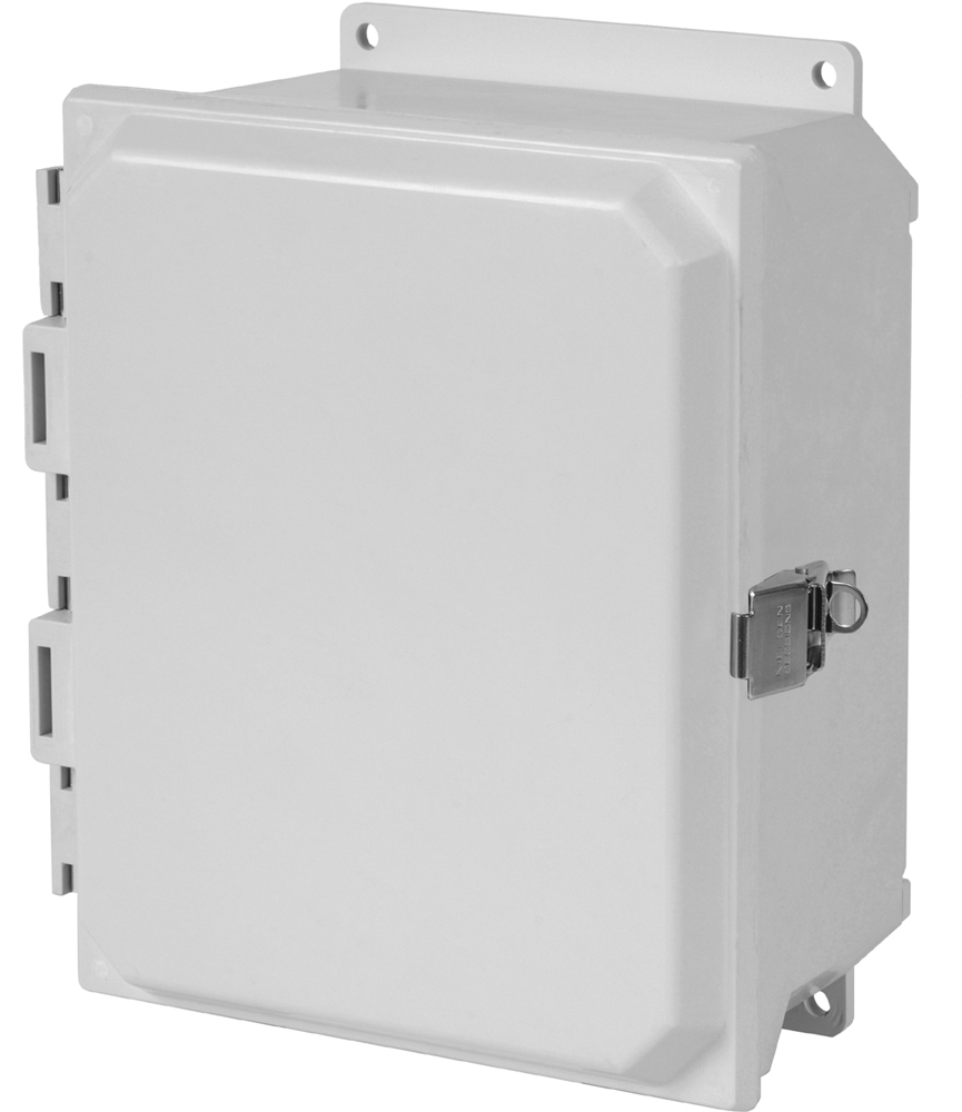 Type 4X Polyester Junction Box (Solid and Clear Cover) PJU Series snap Latches