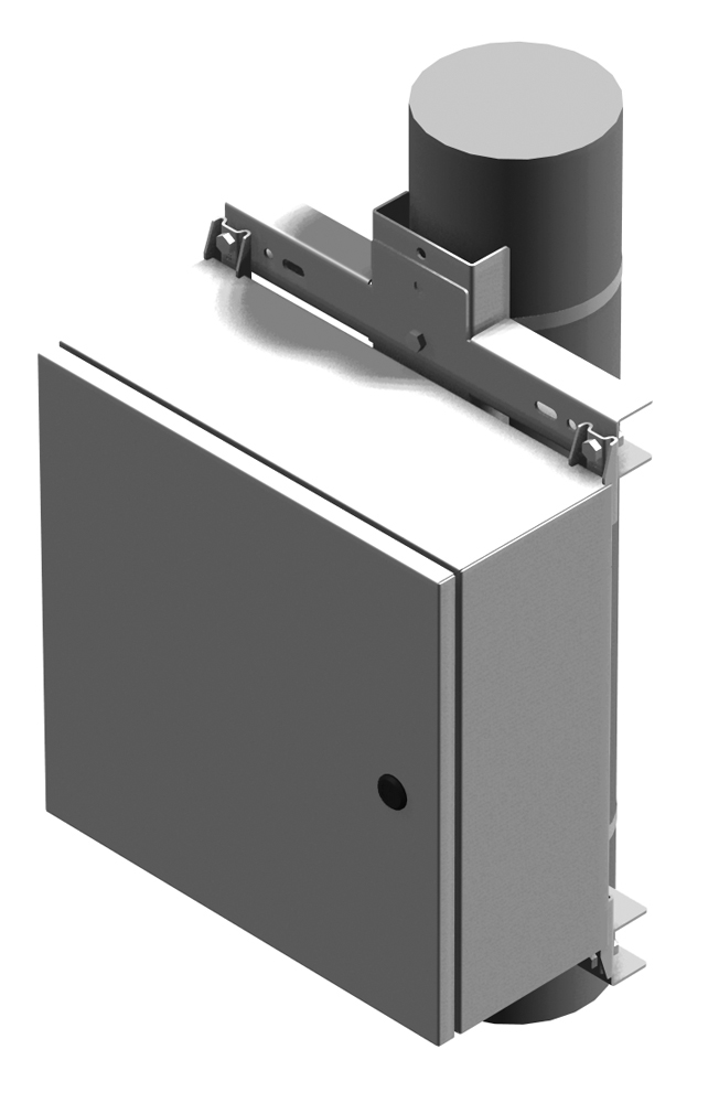Pole Mounting Kit PMK Series Junction and Wallmount Style - Steel